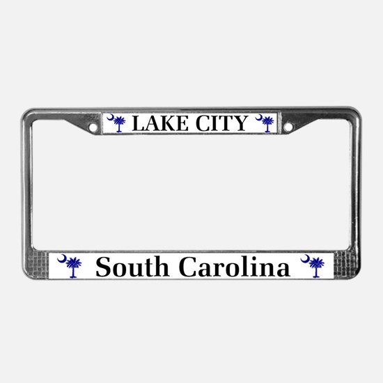 Lake City South Carolina License Plate Frame