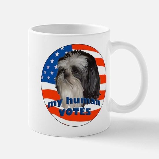 Shih Tzu with American Flag Mug