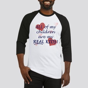 bio, step, adopted all my REAL kids Baseball Jerse