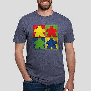 4 field meeples Mens Tri-blend T-Shirt