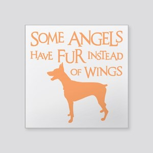 "DOBIE ANGEL Square Sticker 3"" x 3"""
