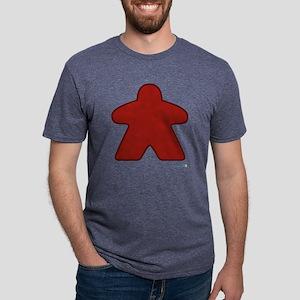 Big Red Meeple Mens Tri-blend T-Shirt