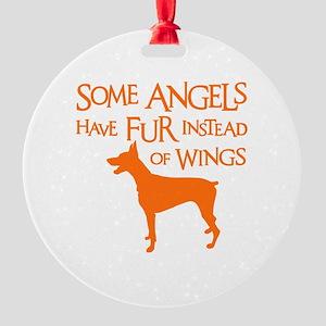 DOBIE ANGEL Round Ornament