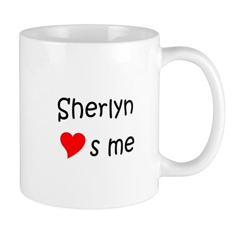 sherlyn name. cute sherlyn name mug i