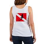 Shark Logo on Dive Flag Women's Tank Top