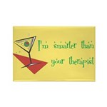 Smarter Than Your Therapist Rectangle Magnet (100