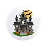 """Halloween Haunted House Ghosts 3.5"""" Button (1"""