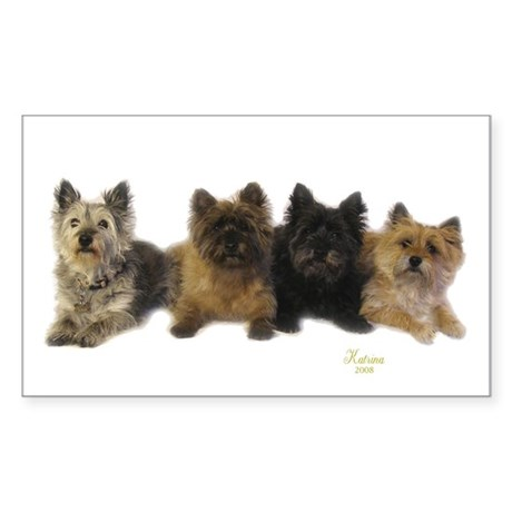 Cairn Terrier Friends Sticker (Rectangle)