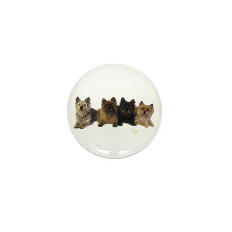 Cairn Terrier Friends Mini Button