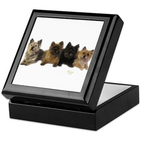 Cairn Terrier Friends Keepsake Box