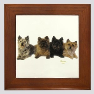 Cairn Terrier Friends Framed Tile
