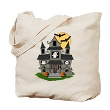 Halloween Haunted House Ghosts Tote Bag