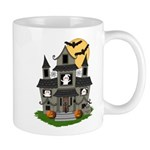Halloween Haunted House Ghosts Mug