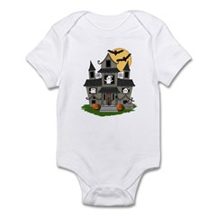 Halloween Haunted House Ghosts Infant Body Suit