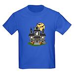 Halloween Haunted House Ghosts Kids Dark T-Shirt