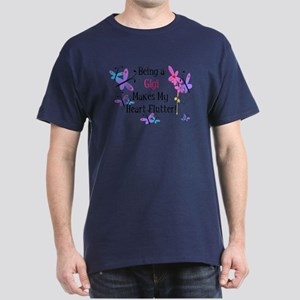 Heart Flutter Gigi Dark T-Shirt