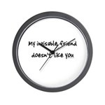 Invisible friend doesn't like you Wall Clock
