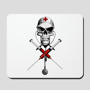 Evil Nurse Skull Mousepad