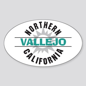 Vallejo California Oval Sticker