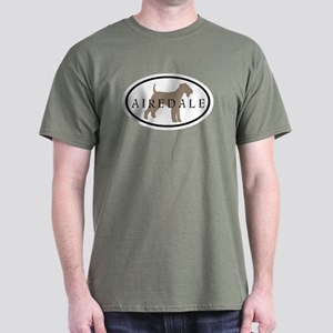 Airedale Terrier Oval #2 Dark T-Shirt