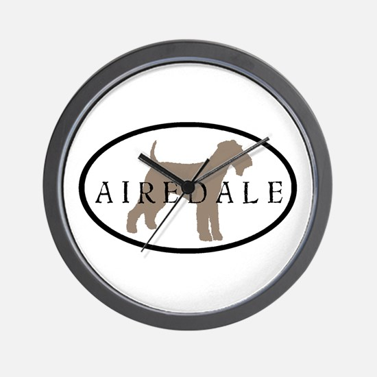Airedale Terrier Oval #2 Wall Clock