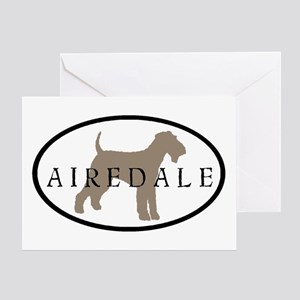 Airedale Terrier Oval #2 Greeting Card
