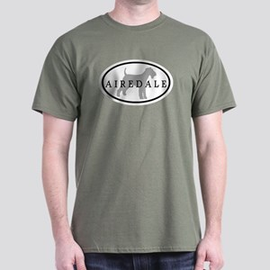 Airedale Terrier Oval #3 Dark T-Shirt