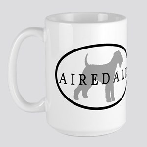 Airedale Terrier Oval #3 Large Mug