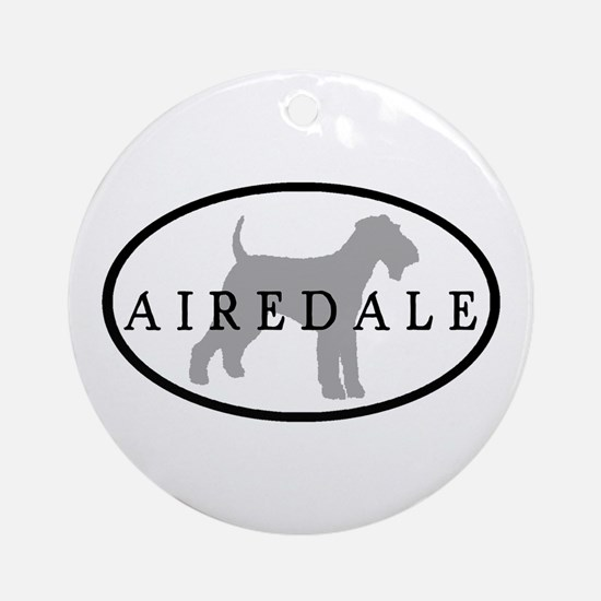 Airedale Terrier Oval #3 Ornament (Round)