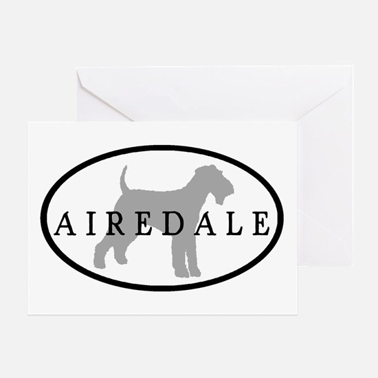 Airedale Terrier Oval #3 Greeting Card