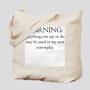 Warning:screenplay Tote Bag