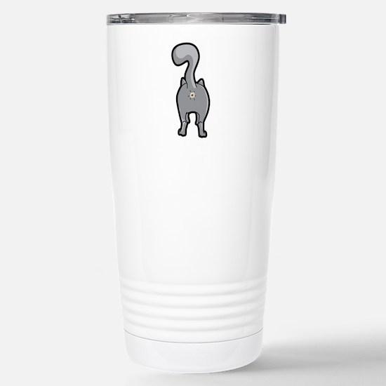 Cat Butt Stainless Steel Travel Mug