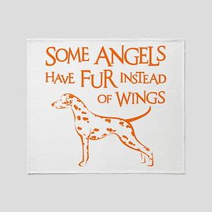 DALMATIAN ANGEL Throw Blanket