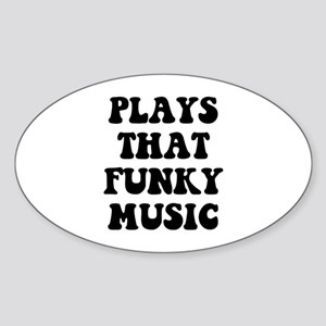 Plays Music Sticker (Oval)