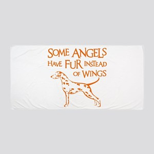 DALMATIAN ANGEL Beach Towel