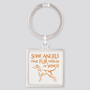 DALMATIAN ANGEL Square Keychain
