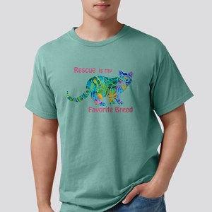 Rescue is Favorite Breed Multi Colors T-Shirt