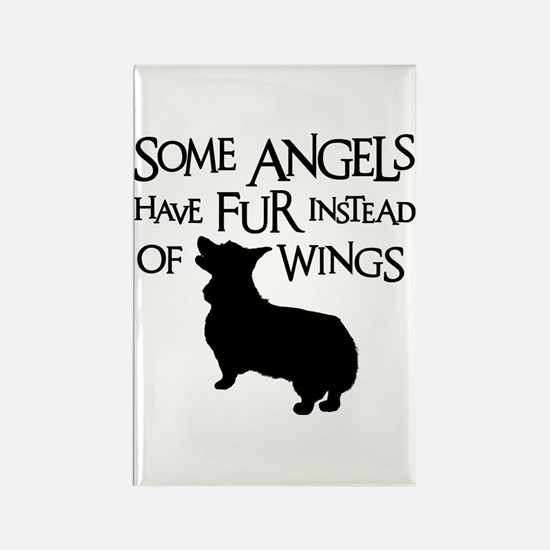 CORGI ANGEL Rectangle Magnet