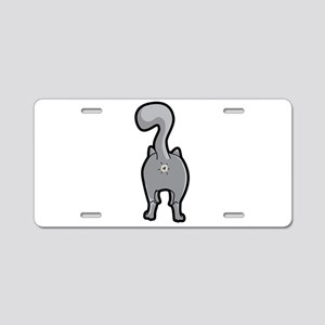 Cat Butt Aluminum License Plate