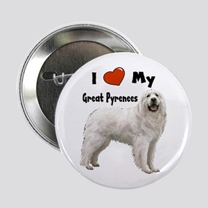 "I Love My Great Pyrenees 2.25"" Button"
