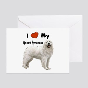 I Love My Great Pyrenees Greeting Card