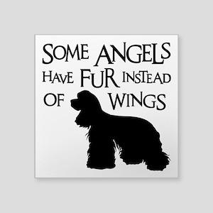 "COCKER ANGEL Square Sticker 3"" x 3"""