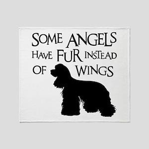 COCKER ANGEL Throw Blanket