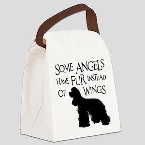 COCKER ANGEL Canvas Lunch Bag