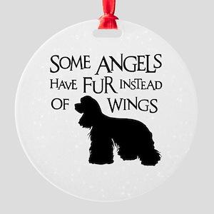 COCKER ANGEL Round Ornament