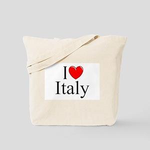"""""""I Love (Heart) Italy"""" Tote Bag"""
