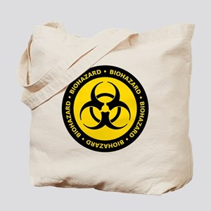 Yellow & Black Biohazard Tote Bag