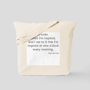 I write when I'm inspired Tote Bag