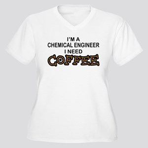 Chemical Engineer Need Coffee Women's Plus Size V-