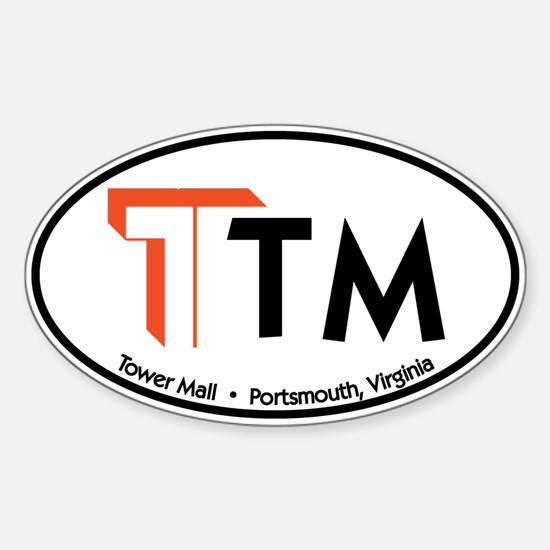 Tower Mall Oval Decal